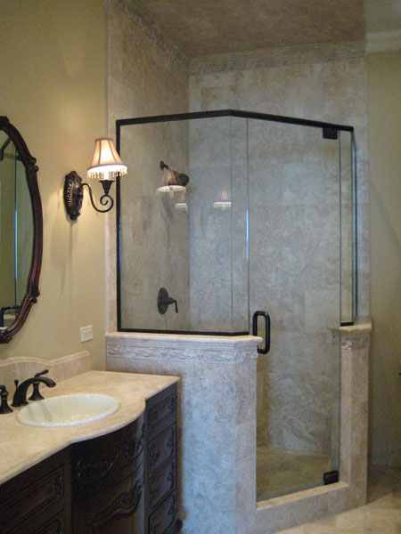 Frameless Shower, Tub Enclosures, Ultra Glass, Clear Glass, Tempered ...